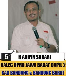 Arifin Sobari PKS, Calon Legislatif DPRD Provinsi Jawa Barat Dapil 2
