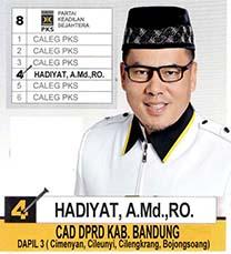 Hadiyat Caleg PKS DPRD Dapil 3 Kabupaten Bandung