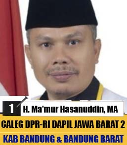 Ma'mur Hasanudin PKS, Calon Legislatif DPR-RI Dapil Jawa Barat 2